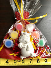 10 CHINES DRAGON party favors to paint.Creative.DIY, birthday, class,school.
