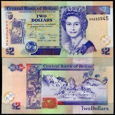 BELIZE 2 DOLLARS 2003 P 66 UNC