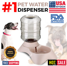 Automatic Pet Water Dispenser Feeder Puppy Dish Waterer Feeding Bowl Cat Dog