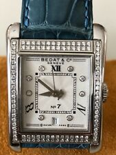 "Bedat & Co ""No 7"" Stainless Steel With Double Diamond Bezel Ladies Watch W/date"