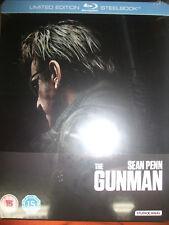 The Gunman Blu-ray Limited Edition Steelbook Zavvi UK Import Region B New Sealed