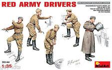 SET DE 5 FIGURINES 'CONDUCTEURS DE L'ARMEE ROUGE', KIT MINIART 1/35 n° 35144