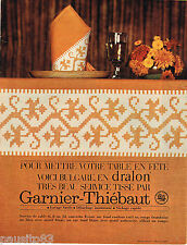 PUBLICITE ADVERTISING 055  1966  GARNIER-THIEBAUT linge de table service BULGARE