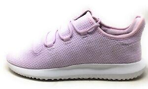 Adidas Unisex Kids Tubular Shadow C Athletic Sneakers Pink White Size 2 M US