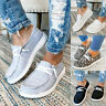 Women's Slip On Pumps Canvas Trainers Ladies Casual Loafers Plimsolls Shoes Size