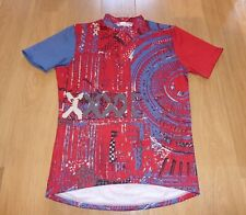 """COLORFUL VINTAGE MURANAKA RED  CYCLING JERSEY, XL , 44"""" CHEST"""
