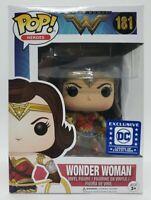 Funko Pop! Heroes Wonder Woman #181 Legion of Collectors Exc + Protector Damaged