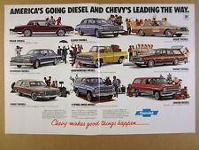 1982 Chevrolet Diesel Car Line impala blazer suburban malibu vintage print Ad