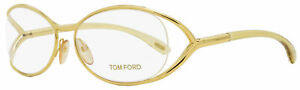 Tom Ford Oval Eyeglasses TF5059 E69 Yellow Gold/Opal 56mm FT5059