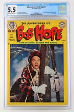Adventures of Bob Hope #1 - CGC 5.5 FN- DC 1950 - Photo Cover!