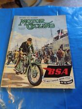 Motor Cycling/Second T.T. Number Full Report and Pictures /B.S.A. Cover