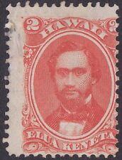 Hawaii - 1864 - 2 Cents Vermilion King Kamehameha IV 31 Variety Frame Line @ Top