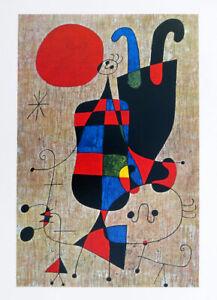 Joan MIRO Upside Down Figures 1971 Offset Lithograph 32 x 22