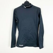 Under Armour Men's Fitted Long Sleeve Coldgear Compression Top Sz Xs Solid Black