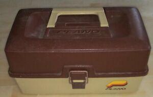 Plano Tan Burgundy Model 4200 2-Tray Vintage Tackle Box Circa 90's Nice