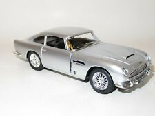 1/38 Scale Aston Martin DB5 - Silver - Friction Motor & Opening Doors -