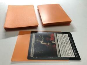 Lenayuyu 100pcs Orange color Protector Standard MTG Card Sleeves 66x91mm Matte