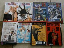 Lot 8 MANGA Books Tokyo Babylon Pavane Bleach Yu-GI-Oh