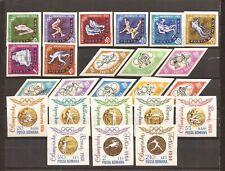 ROMANIA-Winter/Summer Olympics-3 imperf sets 1963-64