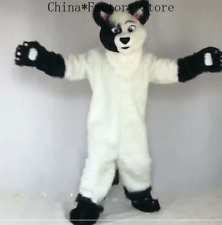 Cosplay Long Fur Fox Dog Mascot Costume Party Dres Outfit Clothing Adult Fursuit