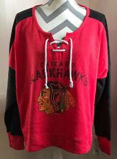 Chicago Blackhawks Womens Sweatshirt XL 16/18 Red NHL NEW NWT