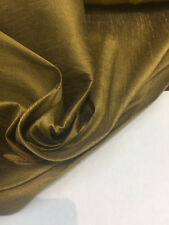 Antique Copper Shantung Faux Silk Polyester Drapery Fabric by the yard 40 colors