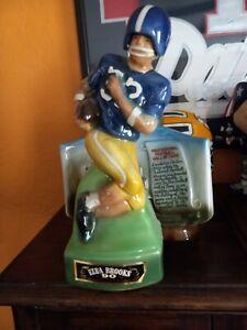 VINTAGE 1974 Ezra Brooks Michigan Wolverines Football Liquor Decanter, NICE!!
