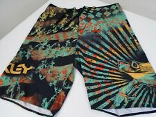 Oakley VINTAGE Frog Board Shorts Psychedelic Froggy MENS SZ 32 RARE!  #0424