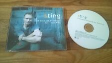 CD Pop Sting - If You Love Somebody Set Them Free (2 Song) Promo A&M REC sc