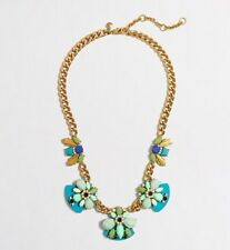 J Crew NWT Fan Clusters Necklace Statement soft spearmint blue green turquoise