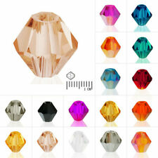 150pcs DIY Crystal Bicone Loose Beads Spacer fit Jewelry Making 3mm