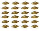 """12 Pair of Darice Soft Padded Fabric 3.5"""" Gold Angel Wings Craft Doll Making"""