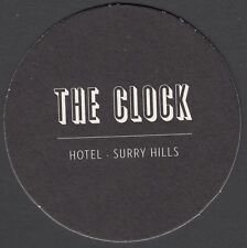 1 x THE CLOCK HOTEL SURRY HILLS, NSW BEER COASTER, BRAND NEW