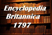 Encyclopedia Britannica 1797 3rd Edition 200 Year Old Version Old Book on CD DVD