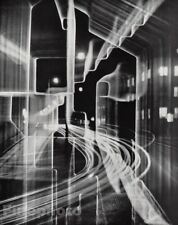 "1950s Vintage HEINZ HAJEK-HALKE Surreal Abstract ""Nocturnal City"" Photogram Art"