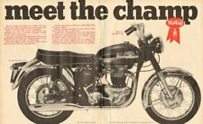 """1966 Norton Atlas 750 Motorcycle """"Meet The Champ"""" 16 x 20 Matted Vintage Ad Art"""