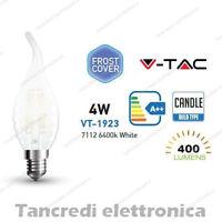 Lampadina led V-TAC 4W = 40W E14 bianco freddo 6400K VT-1923 a fiamma bianca