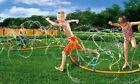 BANZAI KIDS,12 FOOT BACKYARD WIGGLING WATER SPRINKLER,W/ 15 WATER SPRAYERS,NEW