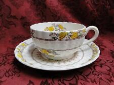 Spode Buttercup, Yellow Flowers w/ Brown Accents: Cup & Saucer Set (s), 2 1/8""