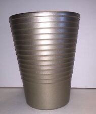 Vintage Grey Ribbed Silver Pottery Va