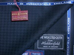 """BOWER ROEBUCK SUPER 100's WOOL FABRIC IN """"Houndstooth"""" MADE IN ENGLAND – 2.4 m."""