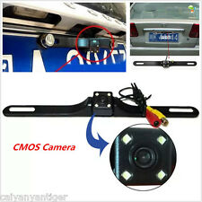 Waterproof 4 LED Car Rear View Reverse Backup Parking Night Vision Camera CMOS