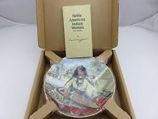 Sacajawea Noble American Indian Woman David Wright Collector's Plate Coa & Box
