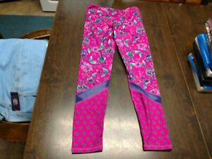 Old Navy Active Purple Flowered Leggings Size Girl's 8