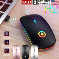 2.4GHz Rechargeable Wireless Optical Sensor Mute Mouse Mice+USB Receiver for PC