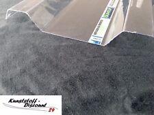 Spundwand Lichtplatte Trapez 207/35 klar 1 mm Polycarbonat farblos glatt