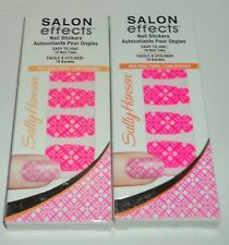 2 Sally Hansen Salon Effects Nail Stickers Easy To Use 18 Nail Tabs GOLDWORK 110