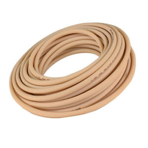 """Beige Opaque Abrasion-Resistant Rubber Tubing Inner Dia 1/8"""" Outer Dia 7/32 10ft"""