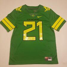 Nike Oregon Ducks Team jersey #21 Men's Size Medium Green Yellow