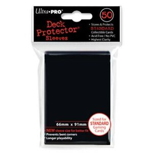 Ultra Pro Deck Protector Sleeves Pack: Black Solid 50ct